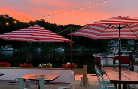 Sunset on The Old Boat House Patio