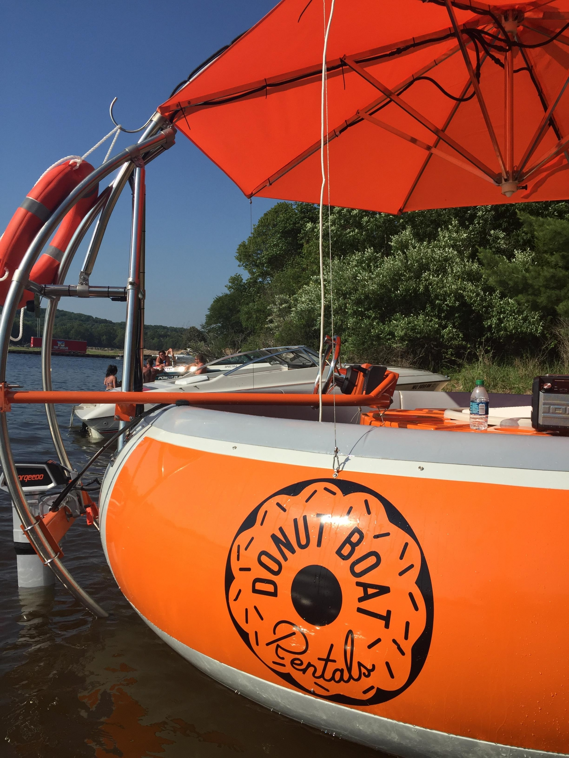 Donut Boats seat up to 10 people