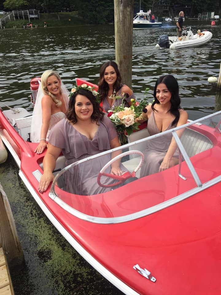 Fun in Retro Boat Ruby in Saugatuck Michigan