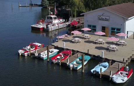 The Old Boat House & Retro Boat Rentals Dock