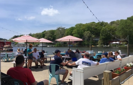 The Old Boat House Patio on a Summer Day in Saugatuck