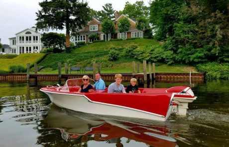 Cruise the Kalamazoo River in Saugatuck in Retro Boat Ruby